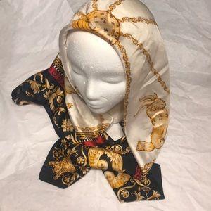 Ann Taylor 100% silk zodiac scarf
